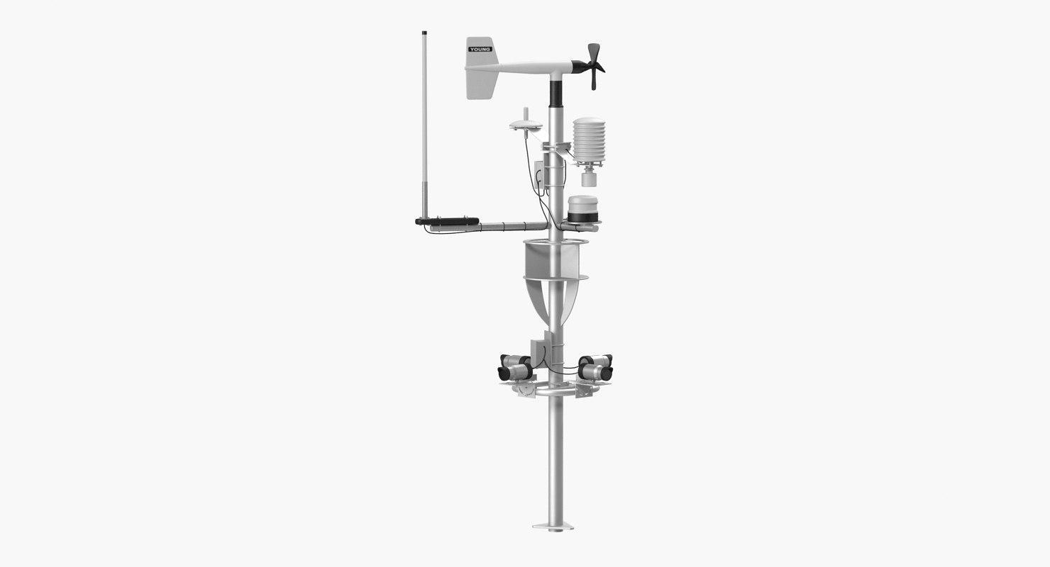 3D weather station model