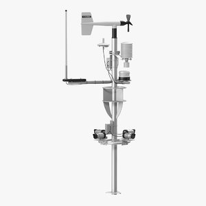 3D weather station model
