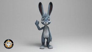 rabbit easter cartoon 3D