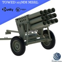 towed 107mm mbrl model
