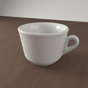 3D realistic ceramic coffee cup