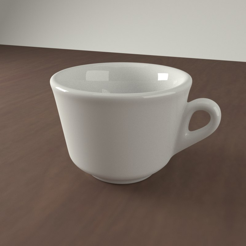 3D realistic ceramic coffee cup