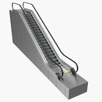 3D stair lift escalator model