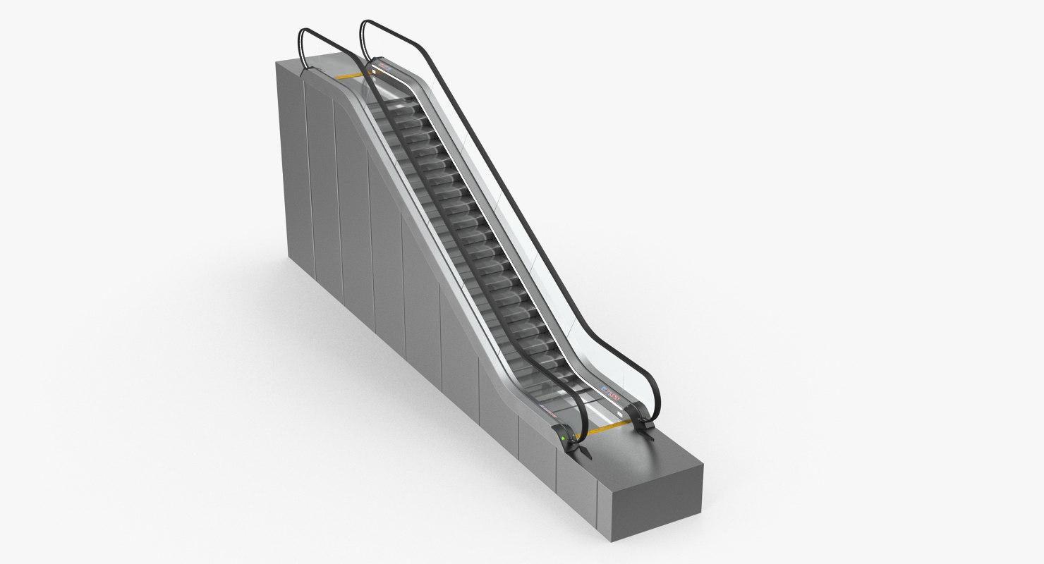 3D stair lift escalator model