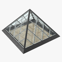 3D small glass pyramid