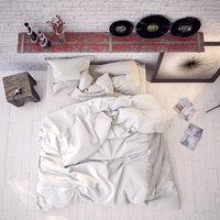 3D model contemporary white bedroom