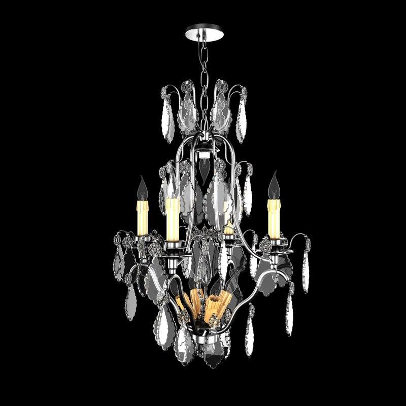 3D chandelier light 1920 exquisite