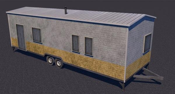 trailer mobile home 3D model
