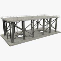 3D truss floor