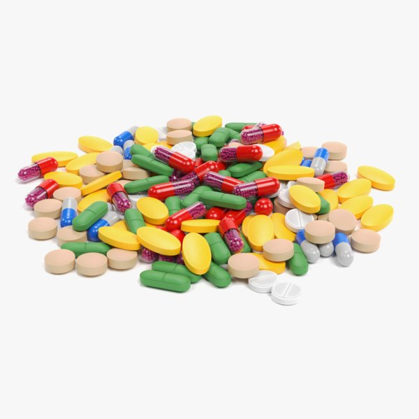 3D pile pills model