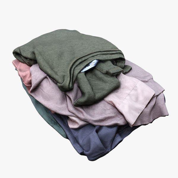 retopology pile clothes 3D model