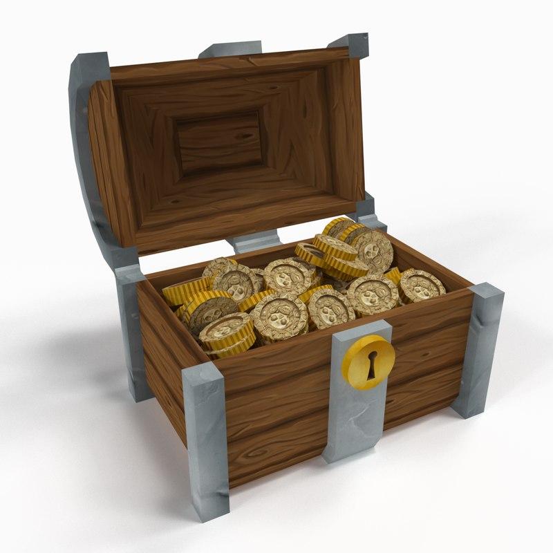 3D chest treasure