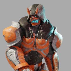3D tengu robot model
