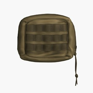 molle tactical bag small 3D model