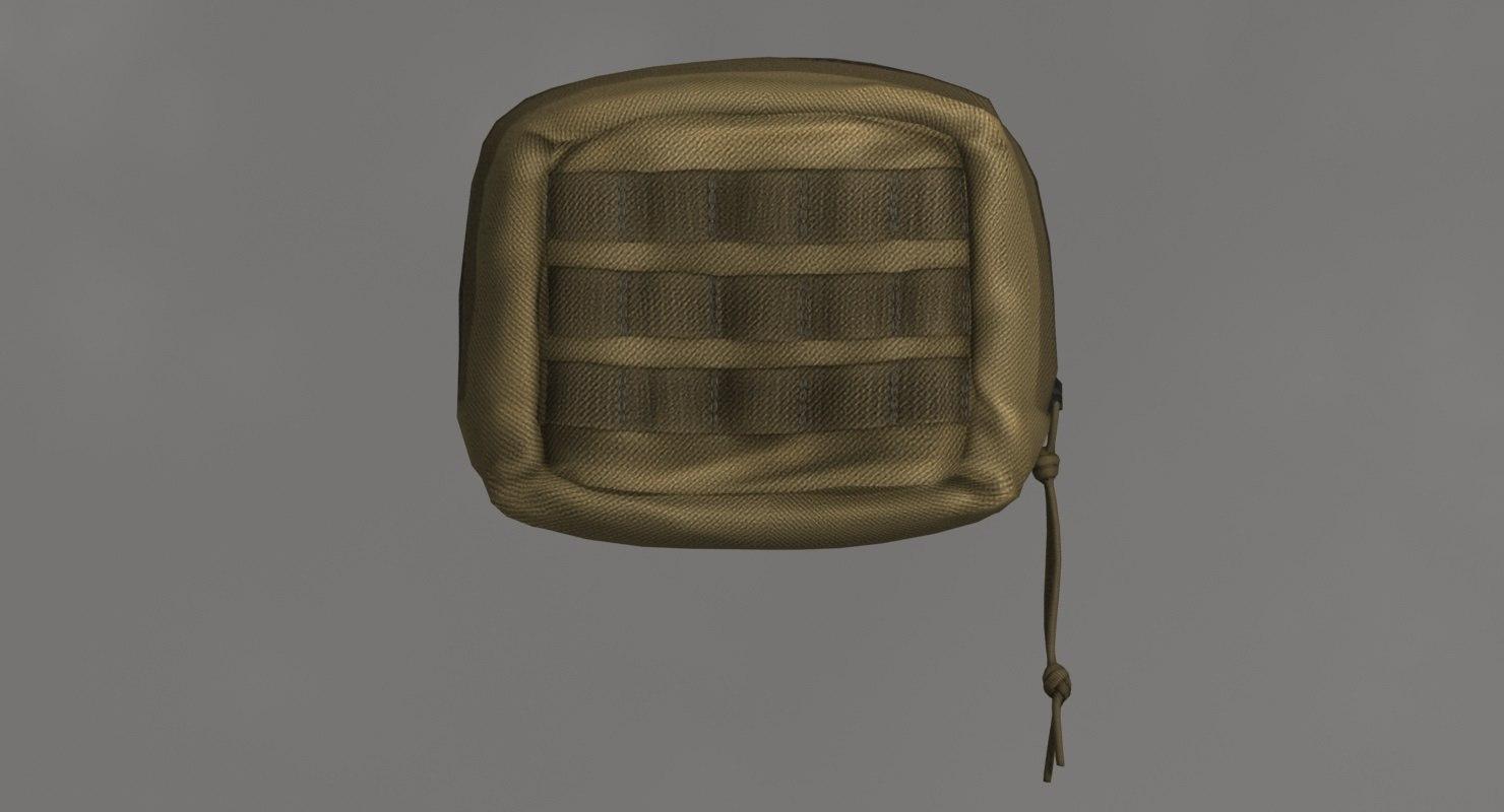 molle tactical bag small 3D model