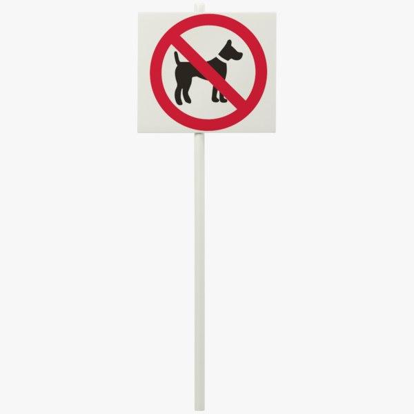3D model sign dog symbol