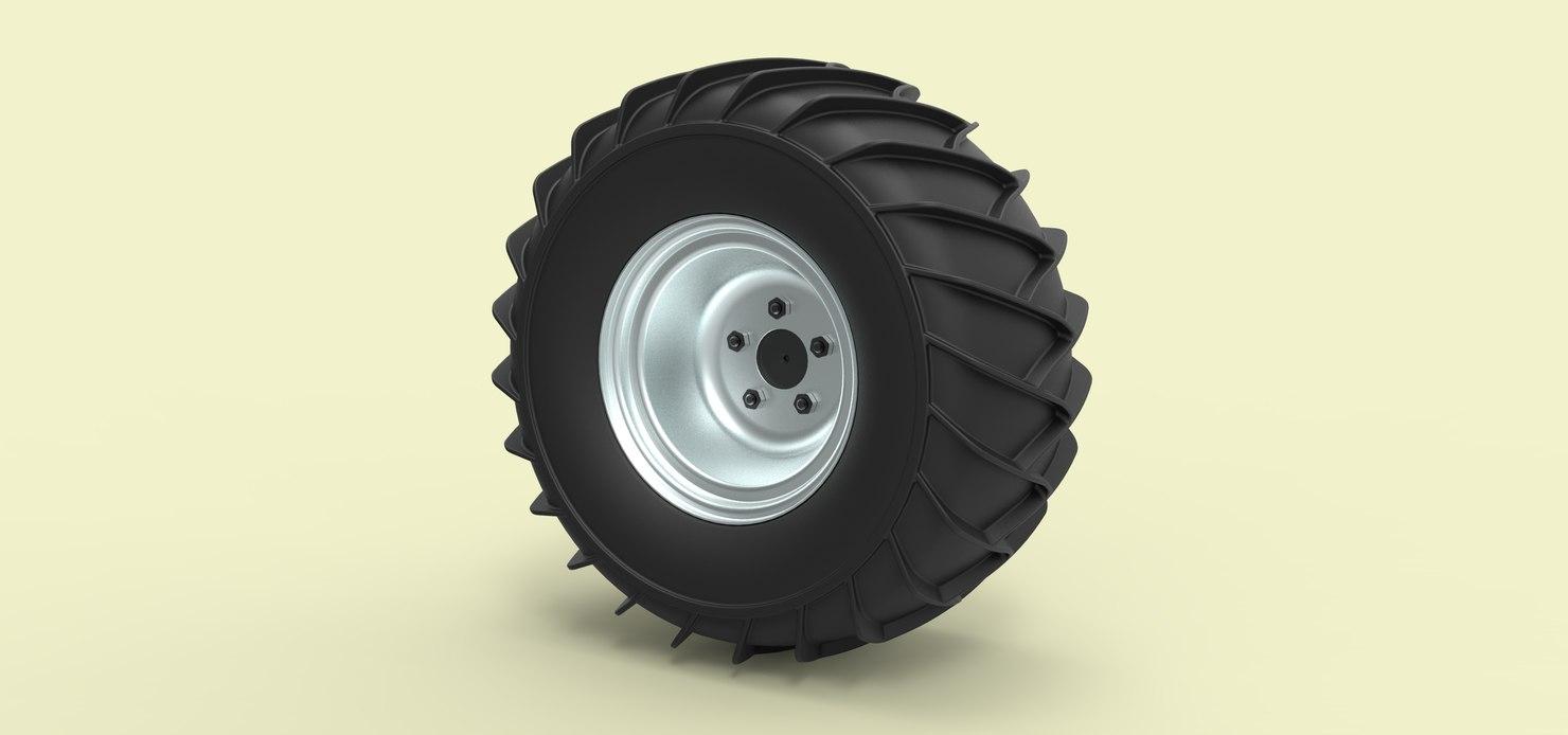 wheel snow 3D model