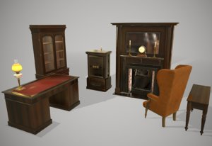 antique furniture 3D model