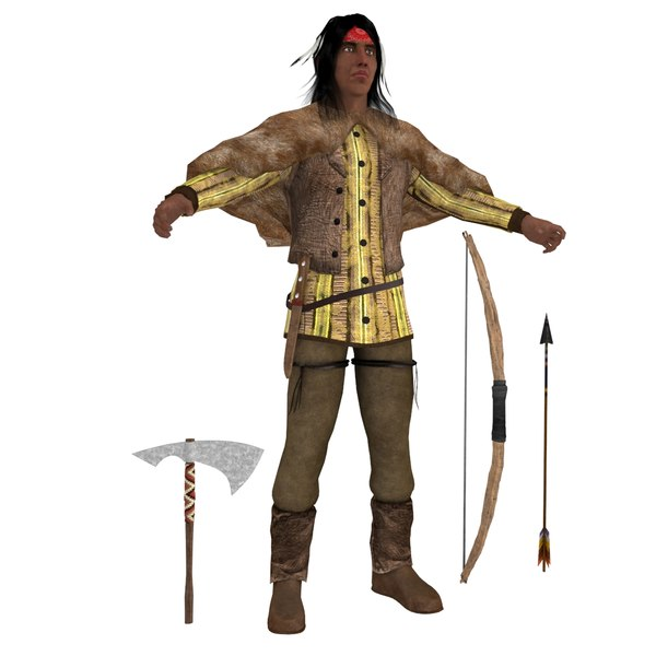 3D model native american