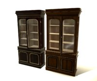 3D antique bookcase model