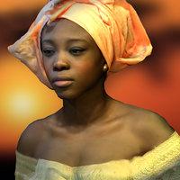 3D model woman african