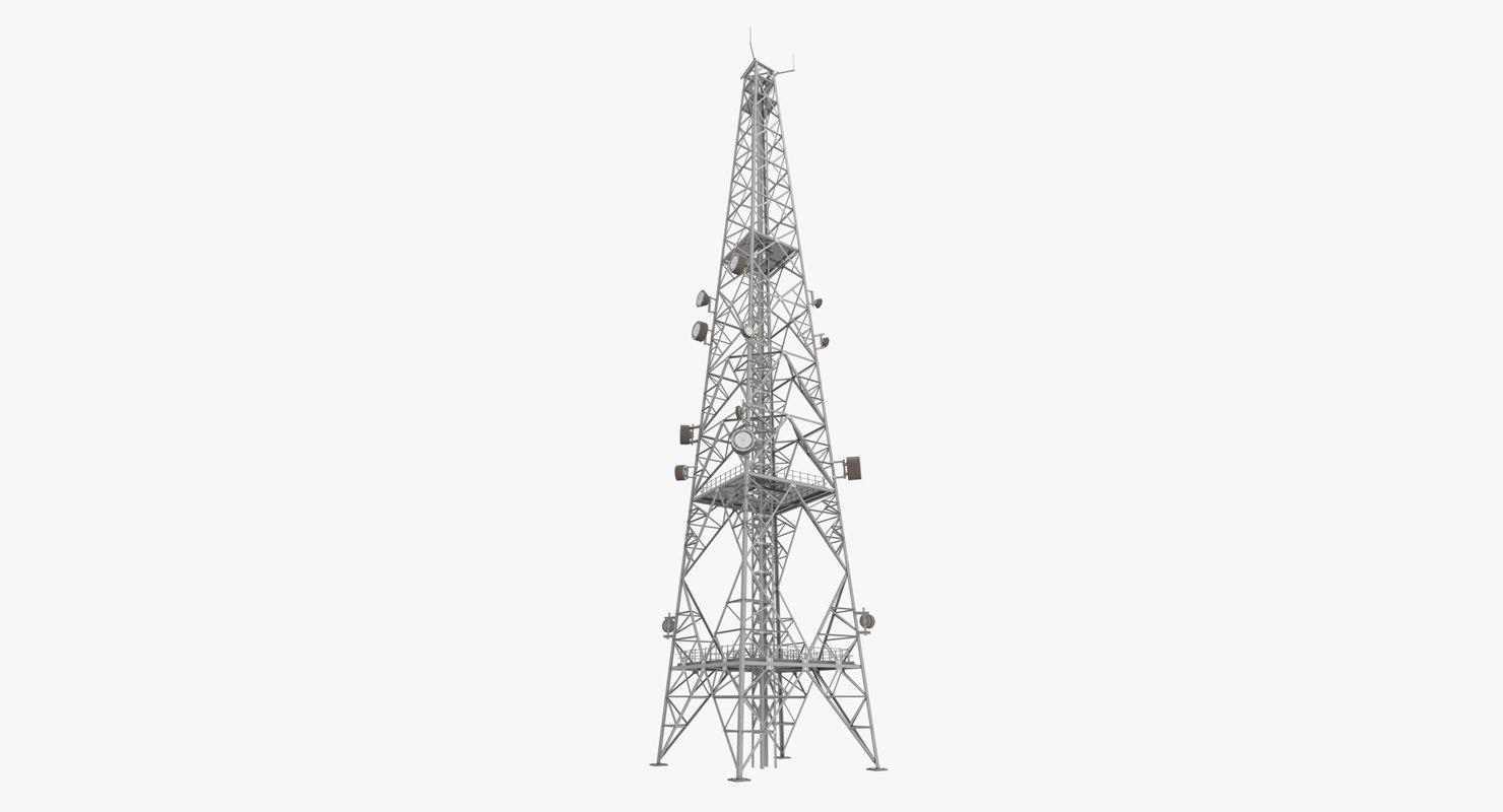 3D telecommunication tower