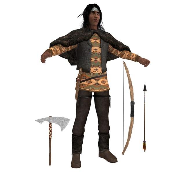 3D native american model