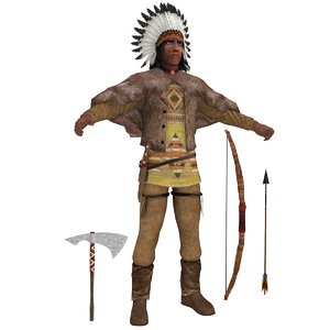 native american chief 3D model
