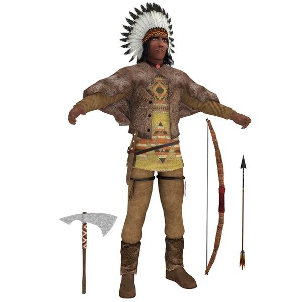 native american chief 3D model