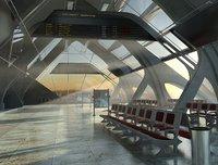 3D airport terminal model