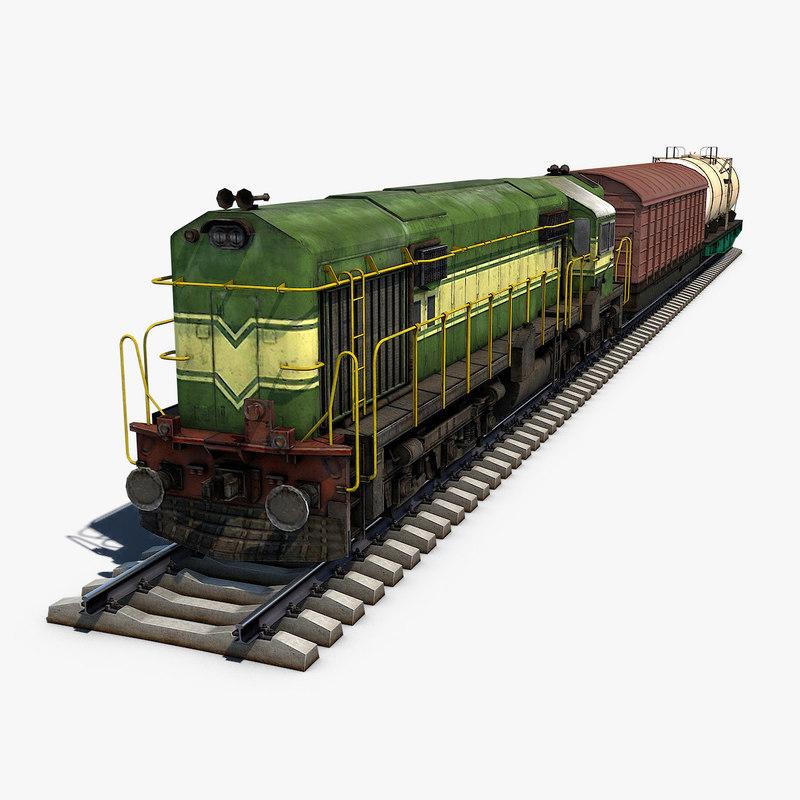 3D train cargo
