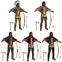 pack native americans 3D model