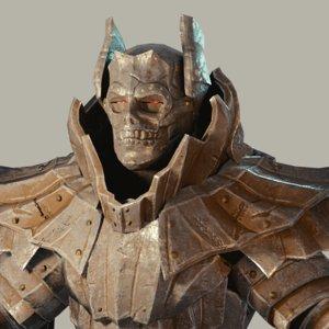 3D model dark warrior fantasy