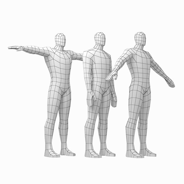 3D mesh hero male body