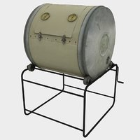 compost barrel 3D