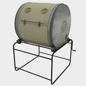 compost barrel 3D