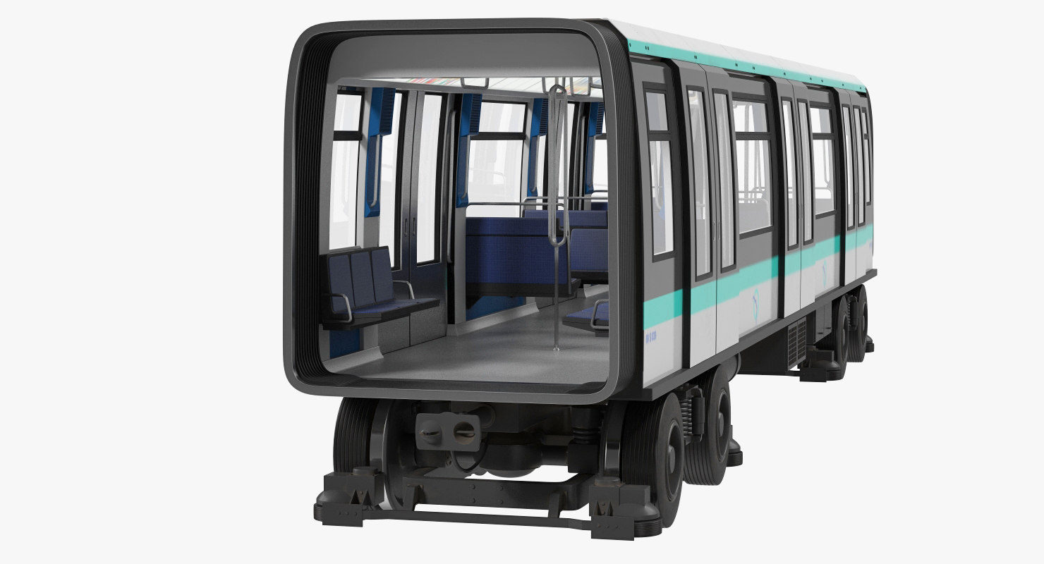 3D model subway passenger wagon