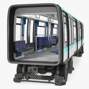 3D model subway passenger wagon