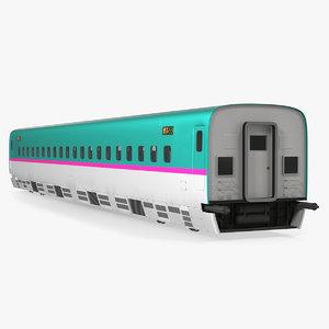 3D shinkansen e5 passenger wagon
