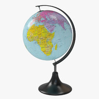 3D desk globe world model