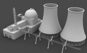 nuclear station 3D model