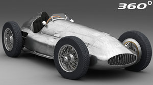 3D model battered mercedes-benz w154 1938