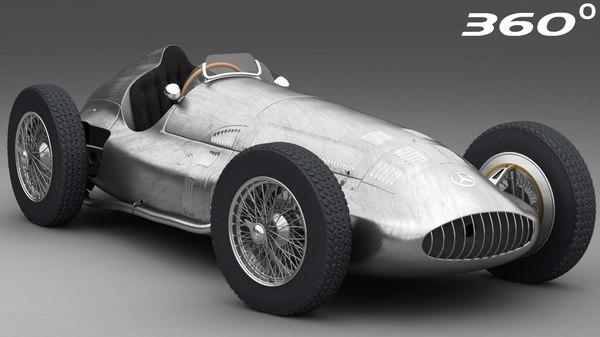 3D model battered mercedes-benz w154 1938