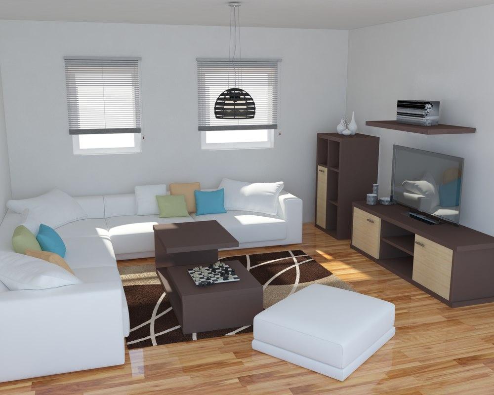 living room model