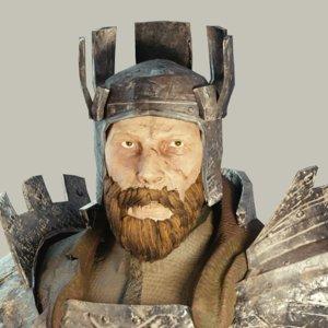 medieval fantasy knight armor 3D model