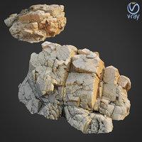 scanned rock cliff u model