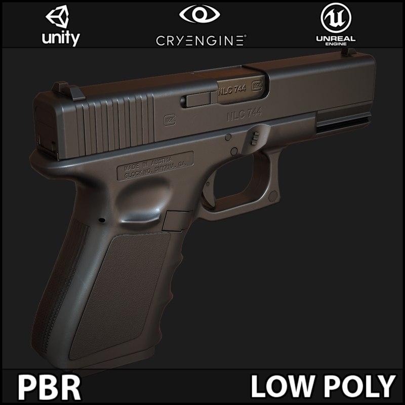 Glock 19 (Triple A) Low Poly PBR