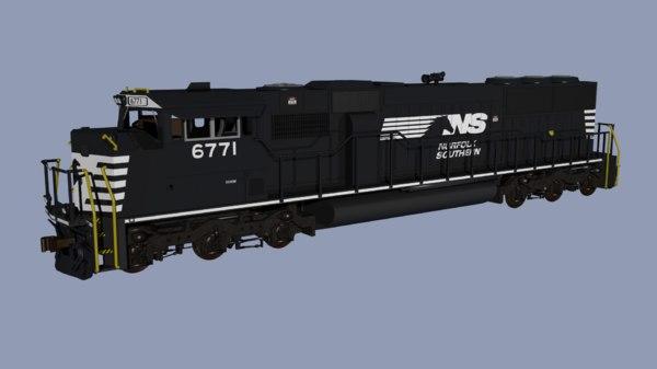 norfolk southern sd60m locomotive 3D model