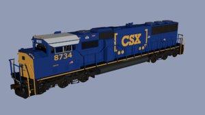 csx sd60m locomotive model