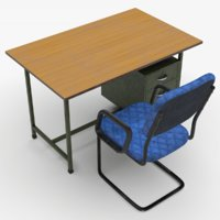 Office Table-Chair Set